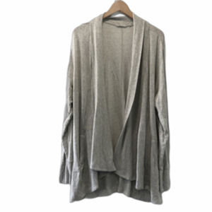Athleta Open Front Long Sleeve Cardigan Gray 1X